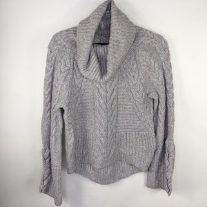 Express Chunky Knit Cowl Neck Sweater